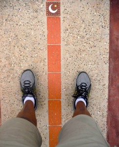 Me standing on both the northern (left) and southern (right) hemispheres