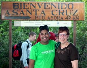 Me and my mom arriving on Santa Cruz Island