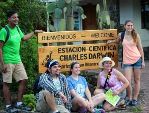 The some BIOL 4506 class members at the Charles Darwin Research Station
